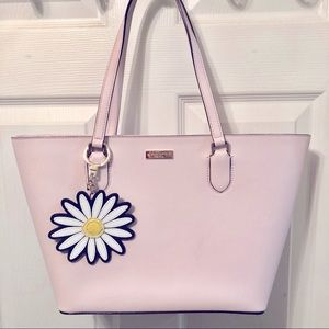 Kate Spade Pink Handbag with Daisy Keychain